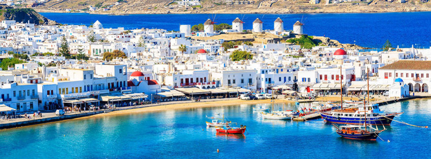 Yer: Mikonos, Fotoğraf: Ferries in Greece